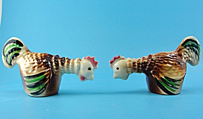 Cleminsons Fighting Rooster Chicken Salt and Pepper Set (Image1)