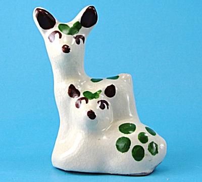 1940s Rio Hondo California Pottery Deer Pair Figure (Image1)