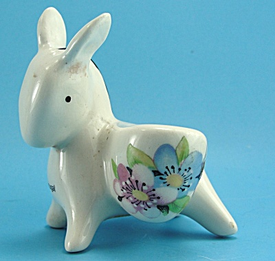 Adorable Handpainted Pottery Donkey From Portugal (Image1)