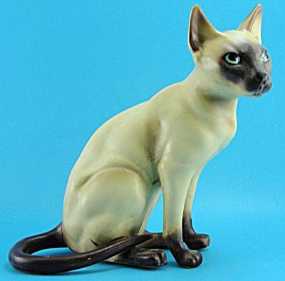 1960s Josef Original Sitting Siamese Cat (Image1)