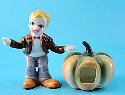 Bone China Miniature Nursery Rhyme Peter Pumpkin Eater