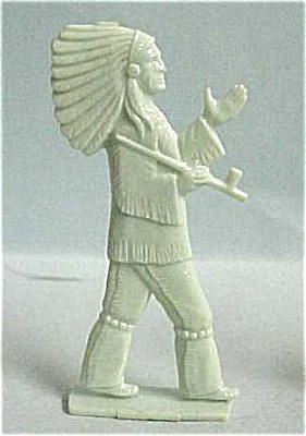 Cracker Jack 1950s Nosco Chief w/ Peace Pipe (Image1)