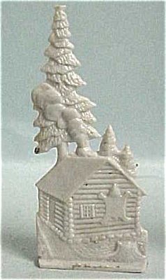 Cracker Jack 1950s Nosco Cabin And Trees