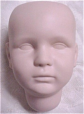 Unfinished Reproduction Bisque Doll's Head (Image1)