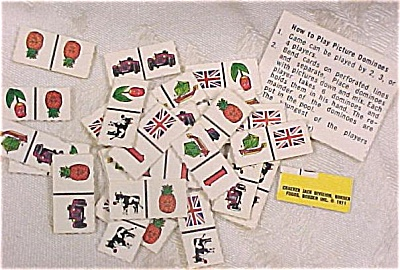 Cracker Jack Toy 1971 Picture Dominos