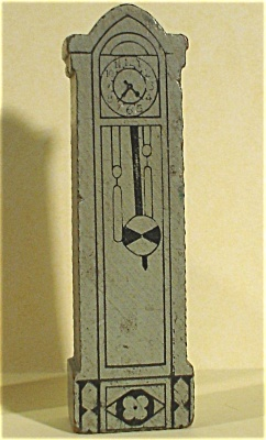 Strombecker 1940s Wood Dollhouse Grandfather Clock (Image1)