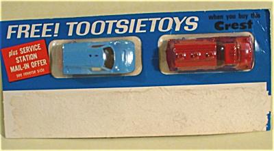 Crest Toothpaste 1967 Tootsietoy Car Premium (Image1)