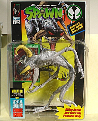 Spawn Violator Figure with Comic Book (Image1)
