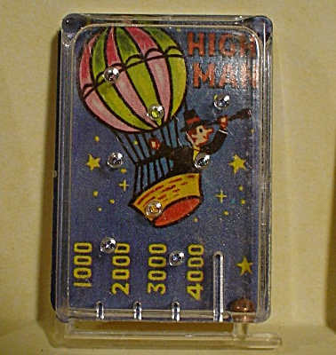 1970 Cracker Jack Prize Toy High Man Game Pinball (Image1)