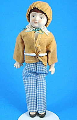 1970s Shackman Porcelain Boy Doll (Image1)
