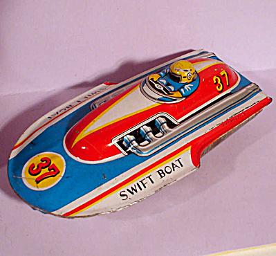 Japan Tin Swift Boat Friction Toy (Image1)
