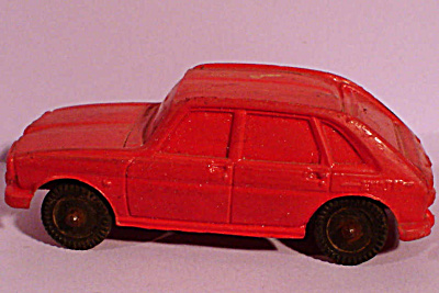 Red Rubber Toy Renault Car, West Germany (Image1)