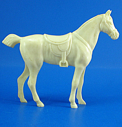 Ivory Colored Plastic Horse Toy