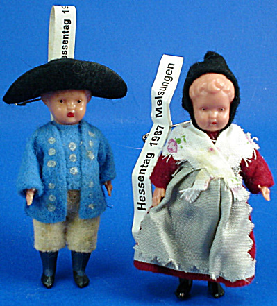 1980s Miniature German Doll Pair (Image1)