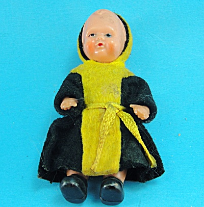 Vintage Dollhouse Scale Child Doll