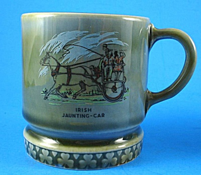 Irish Wade Jaunting Cart Scene Small Mug
