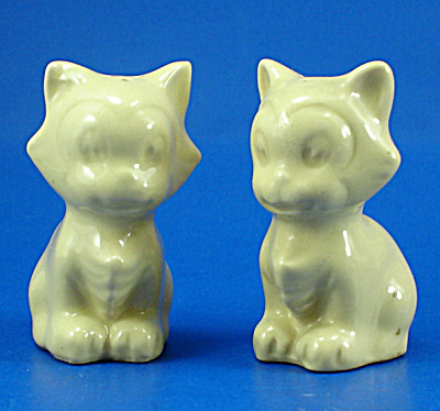 1940s Pottery Figaro Salt And Pepper Shakers
