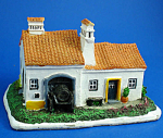 Click here to enlarge image and see more about item 1630: Miniature Resin House