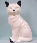1940s/1950s Pottery White & Black Cat