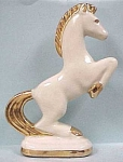 1940s Pottery Rearing Horse