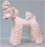 Click here to enlarge image and see more about item a01498: 1930s White Poodle