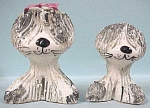 Click here to enlarge image and see more about item a01575: Pottery Sheepdog & Puppy - England
