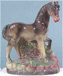 Click to view larger image of Old Chalkware Horse Figurine (Image1)