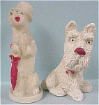 Click here to enlarge image and see more about item a01738: 1930s Dog Pair