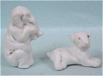 Click to view larger image of Tiny German Bisque Elephant & Dog (Image1)