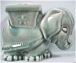 Click here to enlarge image and see more about item a01903: Teal Circus Elephant Planter