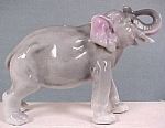 Click here to enlarge image and see more about item a02003: Vintage Porcelain Elephant