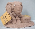 1974 Wallace Berrie Elephant Candle Holder