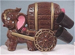 Click here to enlarge image and see more about item a02065: 1950s/1960s Redware Elephant Decanter