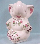 Click here to enlarge image and see more about item a02211: 1940s California Pottery Elephant planter