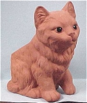 Click here to enlarge image and see more about item a02267: Redware Cat Planter