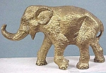 Click here to enlarge image and see more about item a02408: Heavy Brass Elephant