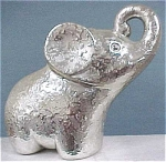 Silver Colored Elephant Planter