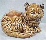 Japan Brown Cat Candle Holder