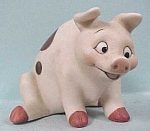 Cute Bone China Sitting Pig