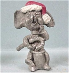 Click here to enlarge image and see more about item a02847: Pewter Miniature Christmas Mouse