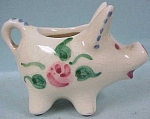 Click to view larger image of 1950s Miniature Pottery Pig Creamer (Image1)