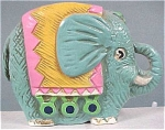 Click here to enlarge image and see more about item a02984: 1960s Blue Elephant Bank