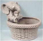 Click here to enlarge image and see more about item a02985: Pottery Elephant Planter