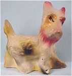 Click here to enlarge image and see more about item a03017: 1940s Carnival Prize Chalkware Scotty Dog
