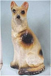 Click here to enlarge image and see more about item a03024: 1940s Carnival Chalkware German Shepherd