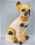 Click here to enlarge image and see more about item a03036: 1930s/1940s Carnival Chalkware Bull Terrier