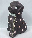 Click here to enlarge image and see more about item a03039: 1940s Chalkware Spotted Puppy Dog
