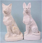 Click here to enlarge image and see more about item a03067: 1930s/1940s German Shepherd Dog Pair