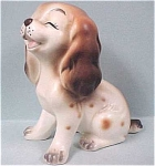Click here to enlarge image and see more about item a03092: 1960s/1970s Napco Laughing Puppy Dog