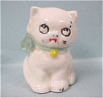 Click here to enlarge image and see more about item a03335: Cute Little 1930s/1940s USA Pottery Cat
